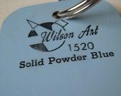 Wilson Art Laminate Sample Key Ring Solid Powder Blue
