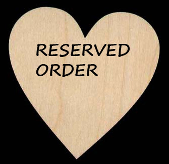 Reserved Order for Racquel