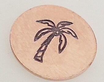 6mm Palm Tree Metal Design Stamp - Metal Jewelry Stamping Tool The Urban Beader