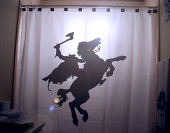 ... Shower Curtain Halloween Horse Scary Horror bathroom decor kids bath