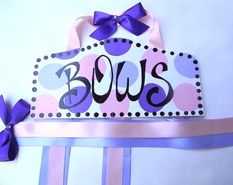 Hair Bow Holder-Lavender, Purple, Pink Personalized