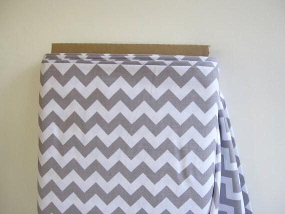 Custom Listing for Trapezestar - 1  Yard Riley Blake Small Gray Chevrons Fabric