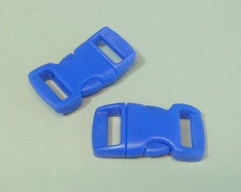 "10pc 3/8"" Royal Blue Contoured Side Release Buckles For Paracord Bracelets H78-4 (10pc)"