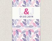 Leaves - Modern wedding invitation with leaf design