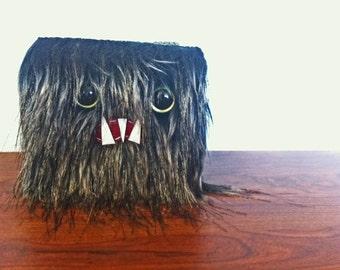 Midnight Monster Wallet- Green Eyes