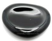 Black Obsidian Worry Stone, Stress Relief, Thumb Stone, Meditation, Black Stone,