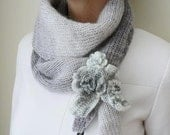 Elegant Knit Scarf For Lady's Fashion Accessories Original Gift For Women Grey