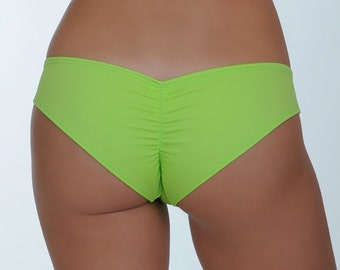 Lime Green Scrunched Bottom- ONE SIZE Fits Most