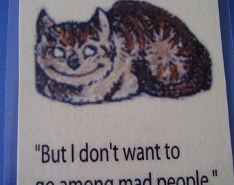 Cheshire Cat and the Mad People of Wonderland Bookmark (laminated)