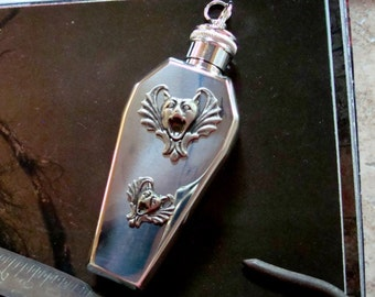 Supplies, Jewelry, Coffin Style Vessel Pendant, Stainless Steel Silver, Great for Poison's of Choice, Crematory Jewelry
