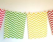 Set of 2 Chevron Tea Towels - you choose the colours