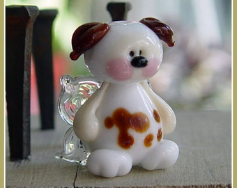 Puppy Dog Fairy Lampwork Bead