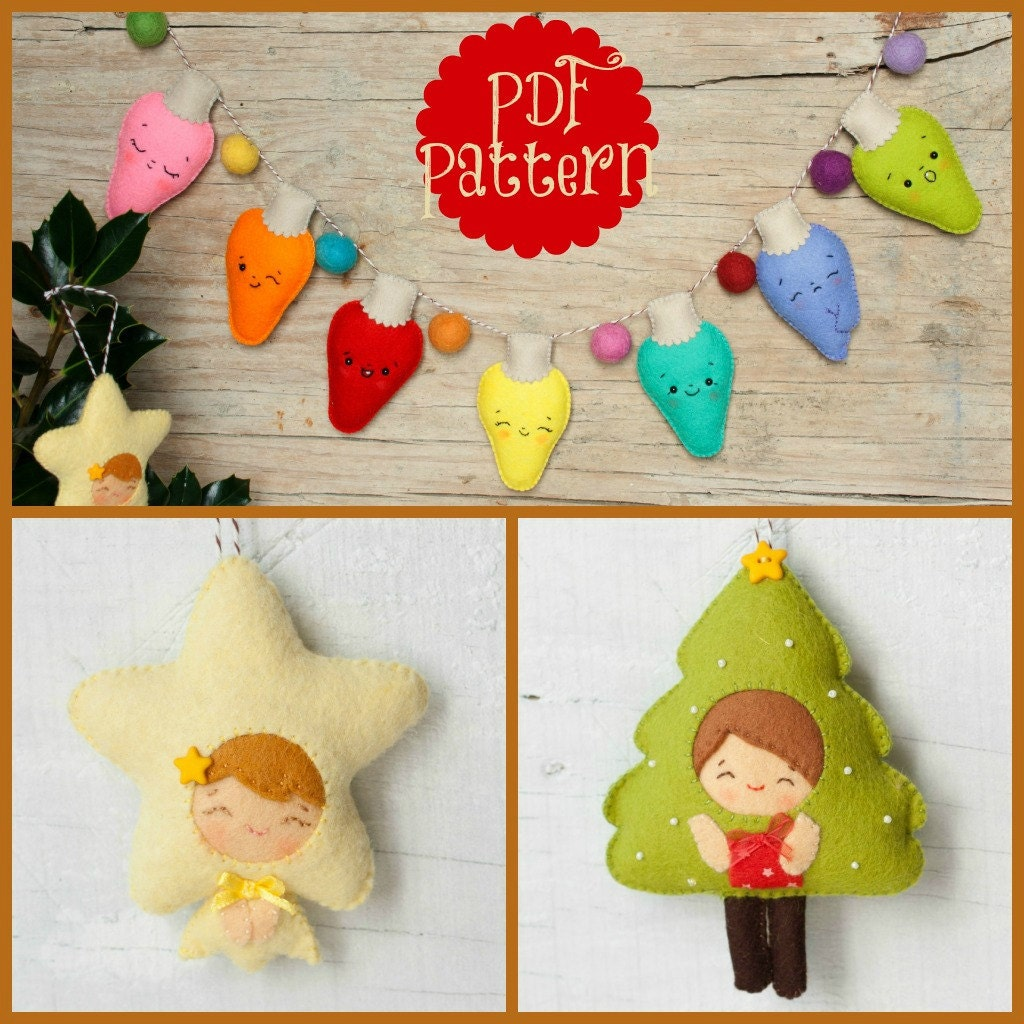 Christmas Tree Ornament Patterns For Sewing Christmas Ornaments Pattern