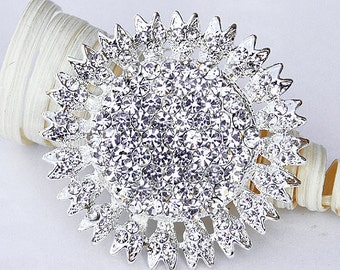 18 Rhinestone Brooch Embellishment Pearl Crystal Flower Hair Comb Tiara Shoe Clip Wedding Bouquet Brooch Cake Decoration BR003