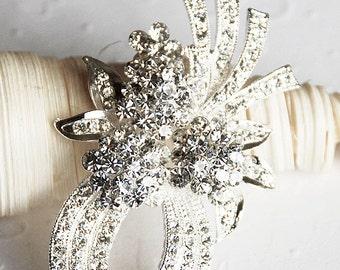 SALE Rhinestone Brooch Crystal Brooch Bridal Brooch Bouquet Hair Comb Shoe Clip Wedding Cake Decoration Jewelry Supply BR052