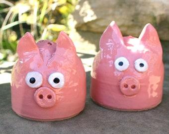 Pink Pig Salt and Pepper Shaker Set