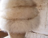 White FOX Fur Hat 1980's excellent shape