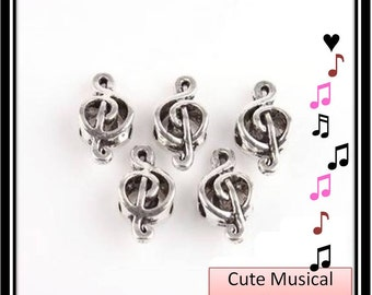 Musical Note Charm - European Style Bead