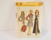 Vintage 70s Simplicity Sewing Pattern 5266 for Jumper and a Blouse