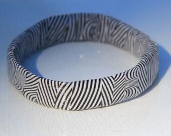 Illusion Upcycled Magazine Bangle Bracelet