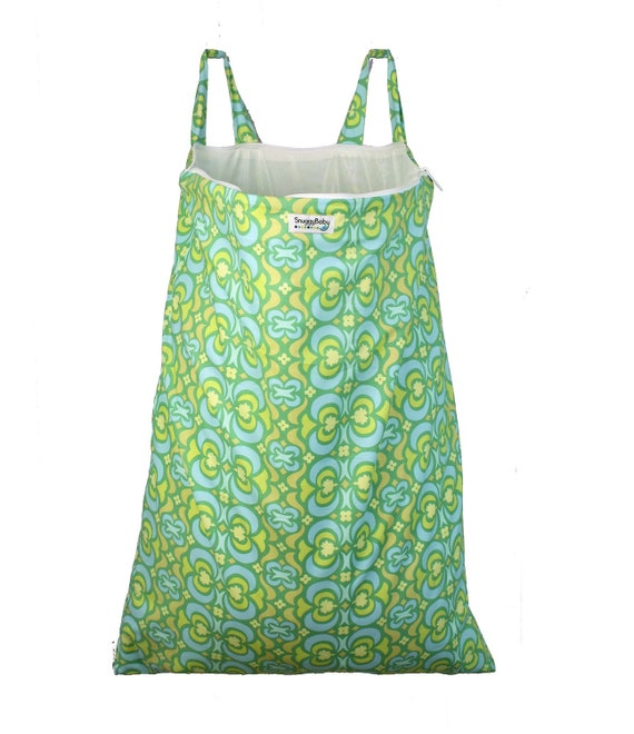Wet Bag Hanging Diaper Pail Laundry Bag - Stained Glass- FAST SHIPPING