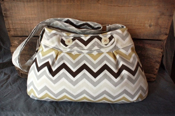 Meeyon Hobo/Purse in Chevron stripe--Ready to Ship--- Save 10% w code SAVE10