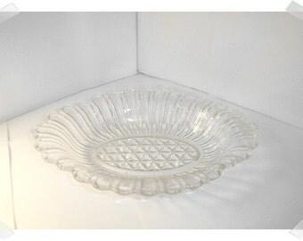 Clear Glass Dish w/Handles/Home Decor*