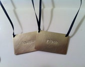 Liquor Bottle Tags -- single tag --  choice of ribbon color