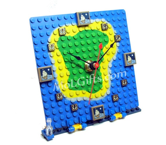 Pirate Clock made from New Lego Pieces - ONLY ONE AVAILABLE