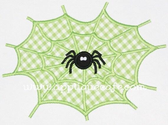 360 Spider Web Machine Embroidery Applique Design