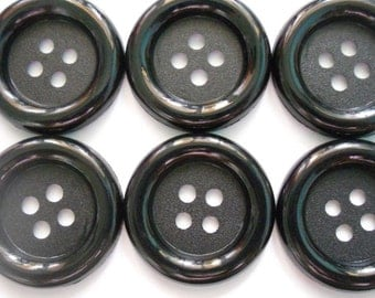 20 pcs Big buttons 4 holes size 33 mm Black colors