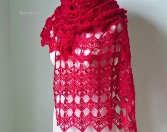 ELEKTRA, Crochet shawl pattern pdf