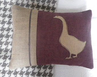 hand printed goose cushion