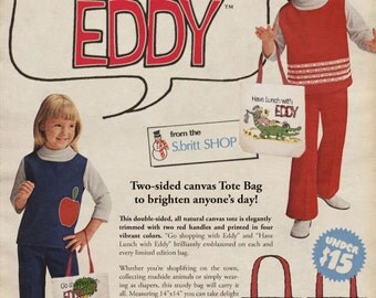 Go shopping with Eddy / Have Lunch with Eddy - Canvas Tote Bag