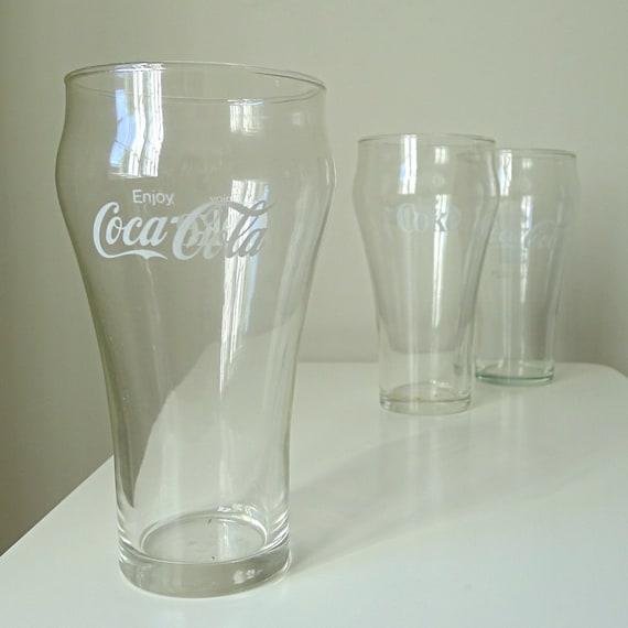 Vintage Coca Cola Drinking Glasses Set Of 3 By Halfpintsalvage