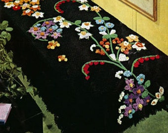 Flower Fountain Afghan Crochet Pattern