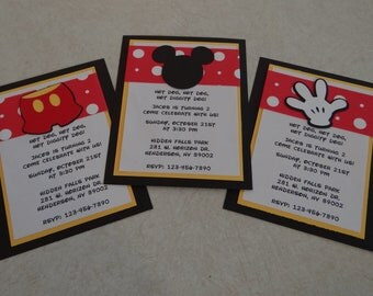 Mickey Mouse Birthday Invitations - Birthday Supplies, Party Supplies