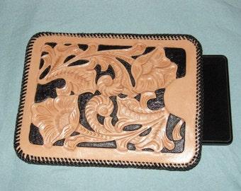 Hand Tooled Leathercraft Kindle Sleeve Case
