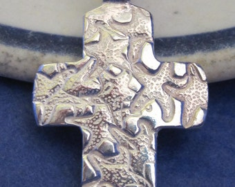 STARFISH fine silver CROSS