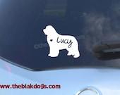 Newfoundland Silhouette Vinyl Sticker - personalized Car Decal