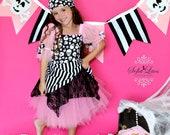 Pirate costume Pink  Pirate tutu halloween costume dress 2t  custom boutique