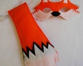 Children's Woodland Animal FOX Felt Mask and Tail Set, What Does The Fox Say