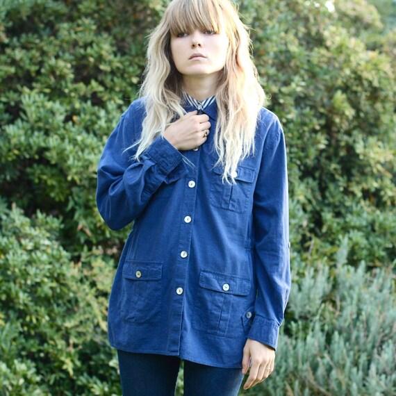 Blue Lightweight Shirt Jacket - M