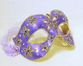 CUSTOM Masquerade Mask - Flower Mask - Purple Mask - Crystal Mask - Venetian Mask - Jeweled Mask - Rhinestone Mask - Violet