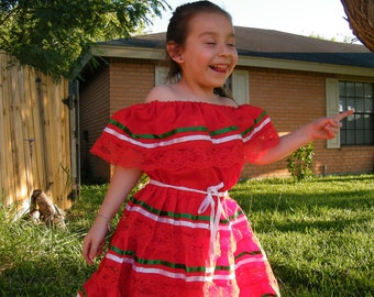 "2 yrs old - Mexican ""Fiesta"" Dress"