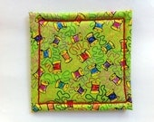Coaster in Spools of Thread Fabric Made on Willcox & Gibbs Chain Stitch Machine, Signed