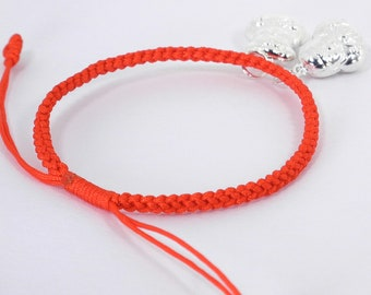 Chinese Sweethearts Good Luck Red String  Bracelet