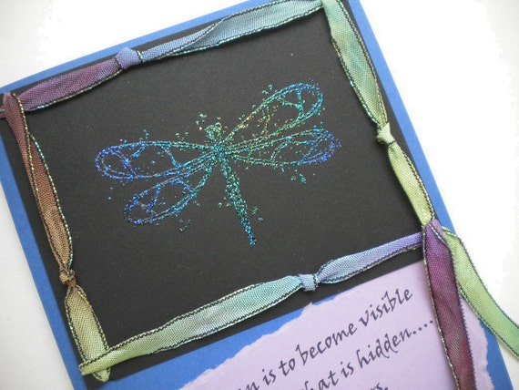 THE HIDDEN GIFT - Handmade Greeting Card with inspirational quote by David Whyte