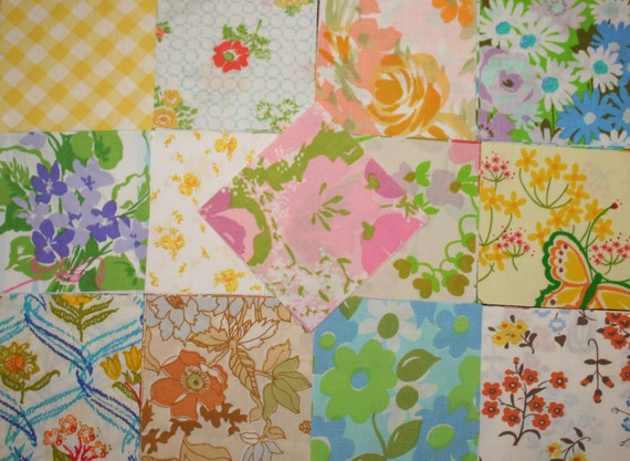Vintage Sheets Charm Pack 5 x 5 inch Squares