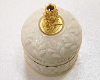 July Birthday Box Lenox Gold Trim Porcelain Trinket Ruby Red